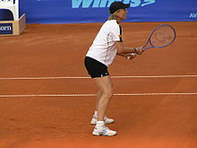 09834de4486a Bosworth Tennis - Martina Navratilova at the 2006 Prague Open with a  Bosworth racket
