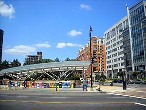 Navy Yard–Ballpark station - New Jersey Avenue entrance to the Navy Yard–Ballpark Metro station