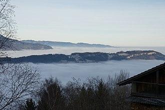 Planken - Image: Nebelmeer Rheintal