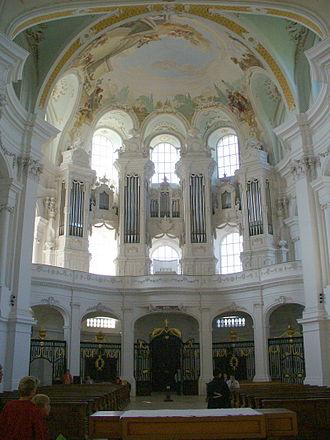 Neresheim Abbey - Image: Neresheim orgel holzhay