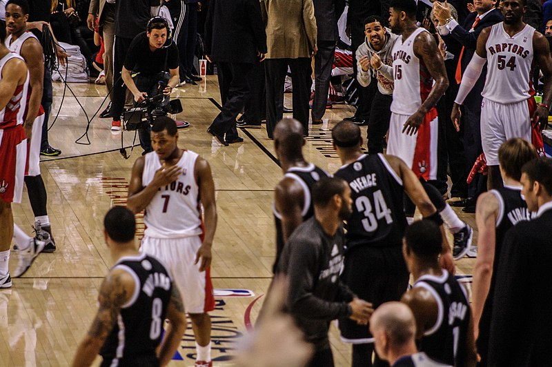 File:Nets vs Raptors Game 2 2014 playoffs.jpg