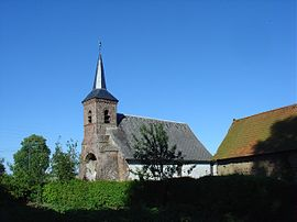 The church of Neuville-au-Cornet