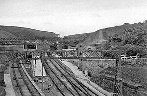 Dunford Bridge railway station - Dunford Bridge railway station in 1954