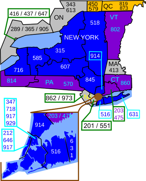 FileNew York State Area Code Mappng  Wikimedia Commons