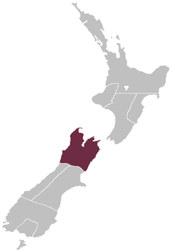 The Nelson Province as constituted in 1853