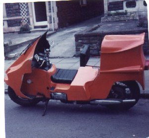 Feet forwards motorcycle - Newell-designed Gold wing FF