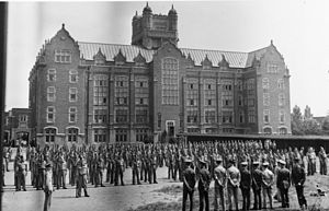 Loyola College (Montreal) - Canadian Officers Training Corps in front of Loyola college in 1940