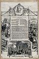 Newspaper illustrations of harvesters and Earl Spencer, Pres Wellcome V0021734.jpg