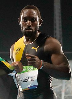 Nickel Ashmeade Jamaican sprint athlete