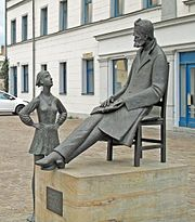 Statue of Nietzsche in Naumburg