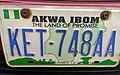 Nigerian number plate Akwa Ibom.jpg