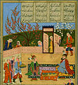 Nizami Ganjavi - Alexander the Great Meets Nushabah in her Palace - Walters W610284A - miniature.jpg