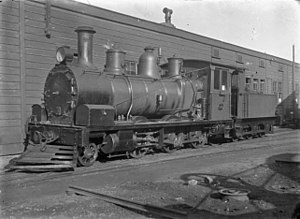 No 118, a J class steam locomotive, 2-6-0 type, altered for shunting at Petone Railway Workshops..jpg