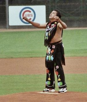 Chief Noc-A-Homa - The Chief taking the mound.