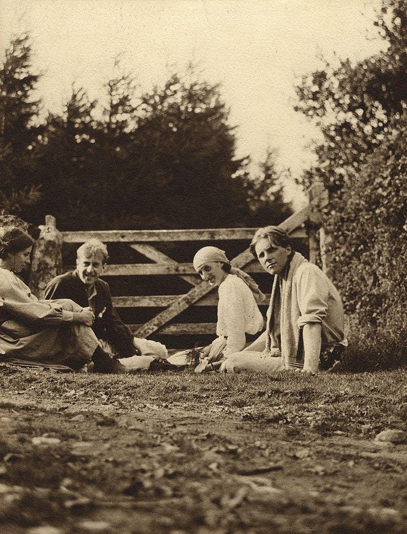 Noel Olivier;  Maitland Radford;  Virginia Woolf (née Stephen);  Rupert Brooke de NPG.jpg