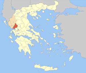 Arta (regional unit) - Image: Nomos Artas