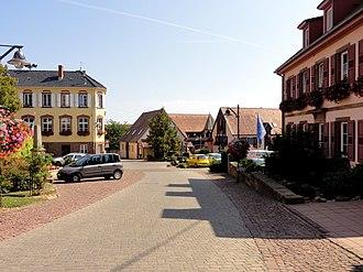 Nordheim, Bas-Rhin - Town hallsquare, Nordheim