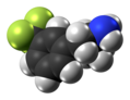 Norfenfluramine molecule spacefill from xtal.png
