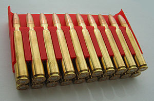 9.3×62mm - Norma Oryx Soft Point cartridges in plastic holder (producer Norma Precision AB, Sweden)