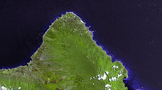 North Shore (Oahu) - Satellite image of North Shore
