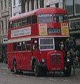 Northampton Corporation bus Daimler CVG6 Roe, Northampton, route 21, 24 April 1972.jpg