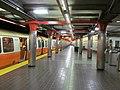 Northbound train at Chinatown station, December 2011.jpg