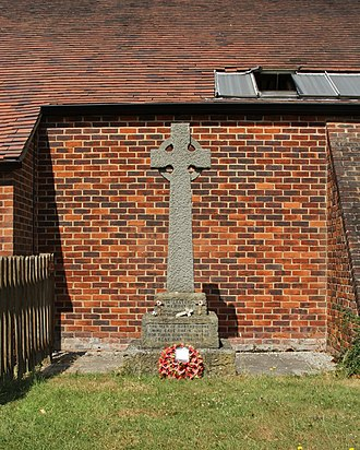 Didcot - Northbourne's First World War memorial, outside the new St Peter's church built in 1977