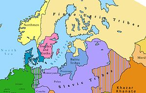 Northern Europe in 814