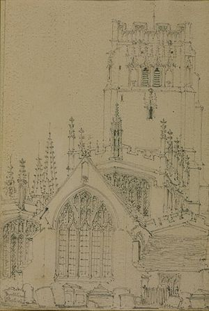 Ambrose Poynter - Ambrose Poynter, drawing of Northleach Church