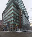 Northwest corner of the intersection of King and Sherbourne, 2014 02 18 -cylindrical.jpg