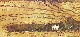 "Isaccea - The town, as ""Novioduni xli"", on the Roman map Tabula Peutingeriana"