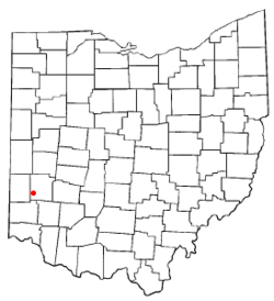 Location of Farmersville, Ohio