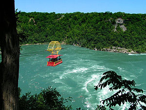 Niagara River - The Spanish Aero Car crossing the Niagara Whirlpool