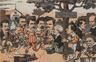 Afonso Pena - Image: O Malho 1junho 1907 Afonso Pena caricatura