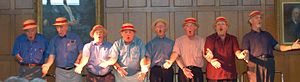 "Aberdeen Student Show - Former cast members reprise ""The Octet"" from 1949's show ""Hitting Back"""