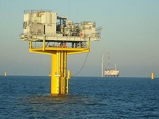 Umspannplattform eines Offshorewindparks (Bild: Wikichops)