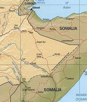 Ogaden - Image: Ogaden Map