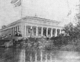 Flag of Ohio - The Ohio Building at the 1901 Pan-American Exposition