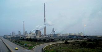 Oil refinery in Homs Oil refinery in Homs, 2010.jpg