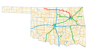 Oklahoma State Highway 11 - Image: Ok 11 path