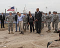 Oklahoma Gov. Mary Fallin, fourth from left, leads U.S. Army Gen. Frank J. Grass, second from left, the chief of the National Guard Bureau, on a tour through the Plaza Towers Elementary School in Moore, Okla 130528-Z-VF620-4610.jpg