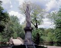 """Old North Bridge and the Daniel Chester French monument, Concord, Massachusetts, marking the """"Shot Heard 'Round the World,"""" the spot where the first British soldier fell in 1775, effectively marking LCCN2011635554.tif"""