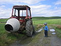 Old tractor and young boy somewhere in Ireland.jpg