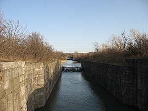 Welland Canal - Abandoned locks of the third canal