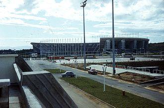 Football in Algeria - Image: Olimpiai Komplexum, szemben az 1962. július 5. e Stadion. Fortepan 100571