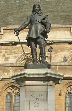 Oliver Cromwell - Statue - Palace of Westminster - London - 240404.jpg
