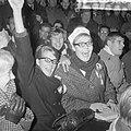 Olympische ploeg gehuldigd in Olympisch Stadion te Amsterdam v.l.n.r. op tribune, Bestanddeelnr 917-0928.jpg