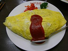 Omurice by jetalone in a downtown, Tokyo.jpg