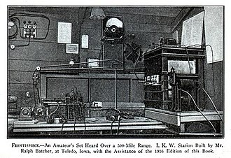 History of amateur radio - Early homebrew amateur radio transmitter