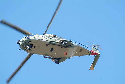 One of two NH.90s for Oman undergoing flight test at the Eurocopter factory (4729240607)